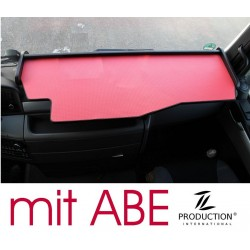 MAN TGX durchgehender LKW-Tisch Kante schwarz Antirutschmatte rot mit ABE