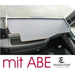MAN TGX durchgehender LKW-Tisch Kante beige Antirutschmatte grau mit ABE