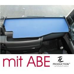 MAN TGX durchgehender LKW-Tisch Kante schwarz Anirutschmatte blau mit ABE