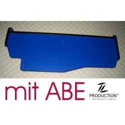 MAN TGX durchgehender LKW-Tisch Kante schwarz Anirutschmatte blau