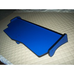 MAN TGX durchgehender LKW-Tisch Kante schwarz Anirutschmatte blau Musterbild