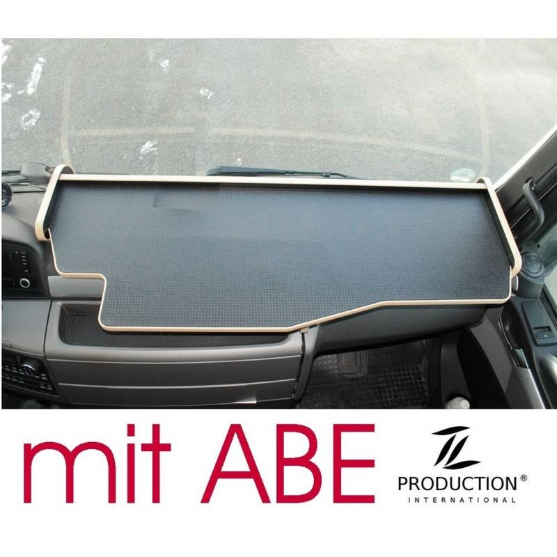 MAN TGX durchgehender LKW-Tisch Kante beige Anirutschmatte schwarz mit ABE