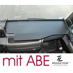 MAN TGX durchgehender LKW-Tisch Kante schwarz Antirutschmatte schwarz mit ABE
