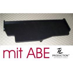 MAN TGX durchgehender LKW-Tisch Kante schwarz Anirutschmatte schwarz Musterbild mit ABE