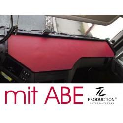 DAF EURO 6 (XF106) Super Space Cap durchgehender LKW-Tisch Kante schwarz Anirutschmatte rot mit ABE