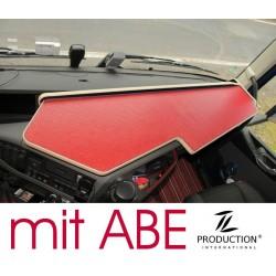 VOLVO FH4 durchgehender LKW-Tisch Kante beige Anirutschmatte rot mit ABE