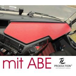 VOLVO FH4 durchgehender LKW-Tisch Kante schwarz Anirutschmatte rot mit ABE