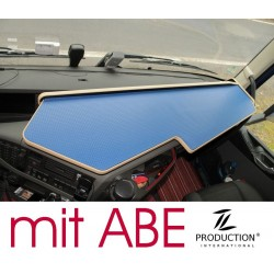 VOLVO FH4 durchgehender LKW-Tisch Kante beige Anirutschmatte blau mit ABE