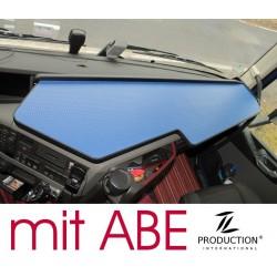 VOLVO FH4 durchgehender LKW-Tisch Kante schwarz Anirutschmatte blau mit ABE