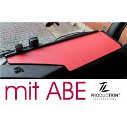 Mercedes Actros Giga Space MP4 & MP5 durchgehender LKW-Tisch Kante schwarz Antirutschmatte rot mit ABE