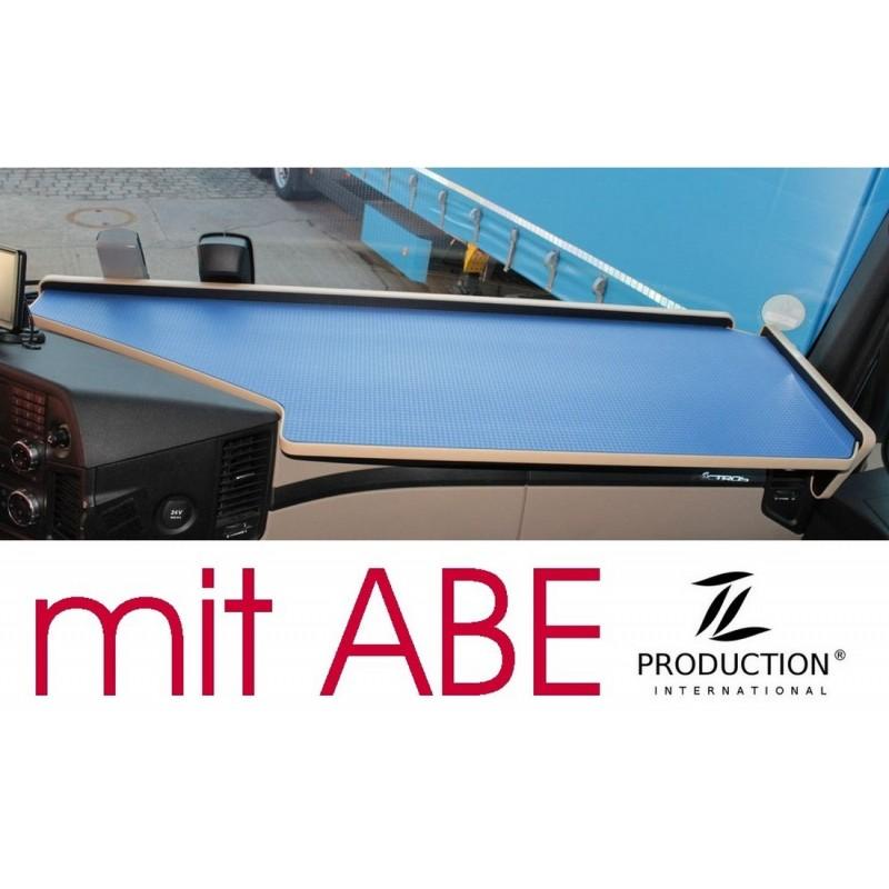 Mercedes Actros Giga Space MP4 & MP5 durchgehender LKW-Tisch Kante beige Anirutschmatte blau mit ABE