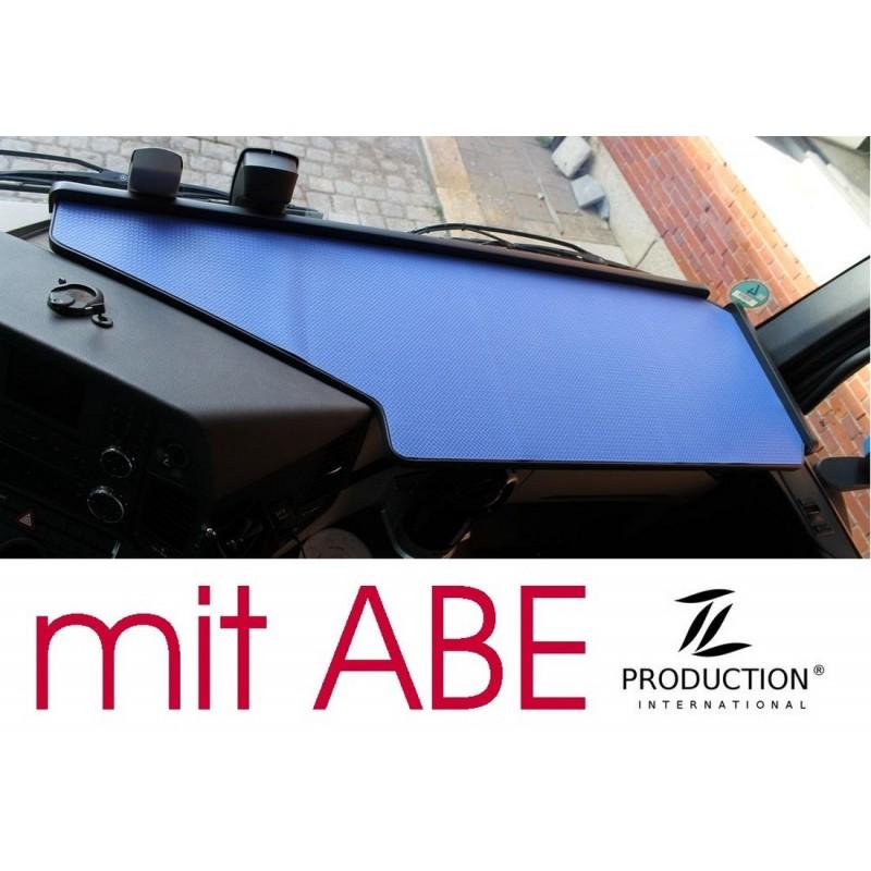 Mercedes Actros Giga Space MP4 & MP5 durchgehender LKW-Tisch Kante schwarz Anirutschmatte blau mit ABE