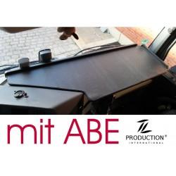 Mercedes Actros Giga Space MP4 & MP5 durchgehender LKW-Tisch Kante schwarz Anirutschmatte schwarz mit ABE