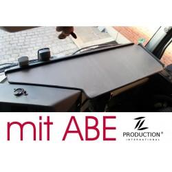 Mercedes Actros Big Space MP4 & MP5 durchgehender LKW-Tisch Kante schwarz Anirutschmatte grau mit ABE