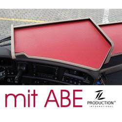 Scania G Mittelablagetisch Kante beige Anirutschmatte rot mit ABE