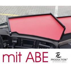 Scania G Mittelablagetisch Kante schwarz Anirutschmatte rot mit ABE