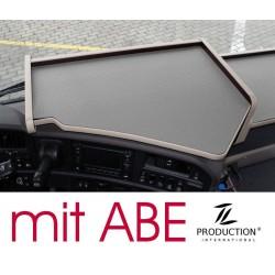 Scania G Mittelablagetisch Kante beige Anirutschmatte grau mit ABE