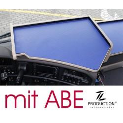 Scania G Mittelablagetisch Kante beige Anirutschmatte blau mit ABE
