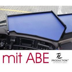 Scania G Mittelablagetisch Kante schwarz Anirutschmatte blau mit ABE