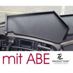Scania G Mittelablagetisch Kante schwarz Anirutschmatte schwarz mit ABE