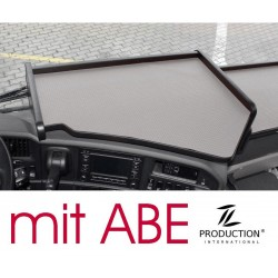 Scania R Mittelablagetisch Kante schwarz Antirutschmatte grau mit ABE