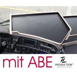 Scania R Mittelablagetisch Kante beige Anirutschmatte schwarz mit ABE