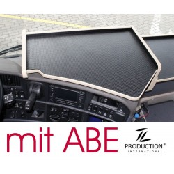 Scania R Mittelablagetisch Kante beige Antirutschmatte schwarz mit ABE