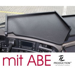 Scania R Mittelablagetisch Kante schwarz Anirutschmatte schwarz mit ABE