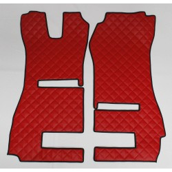Scania R Streamline Fußmatte für klappbaren Beifahrersitz Kunstleder-Farbe rot Musterbild