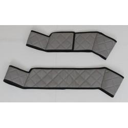 Scania R Streamline Sitzsockelverkleidung 2er-Set für klappbaren Beifahrersitz Kunstleder-Farbe grau Musterbild