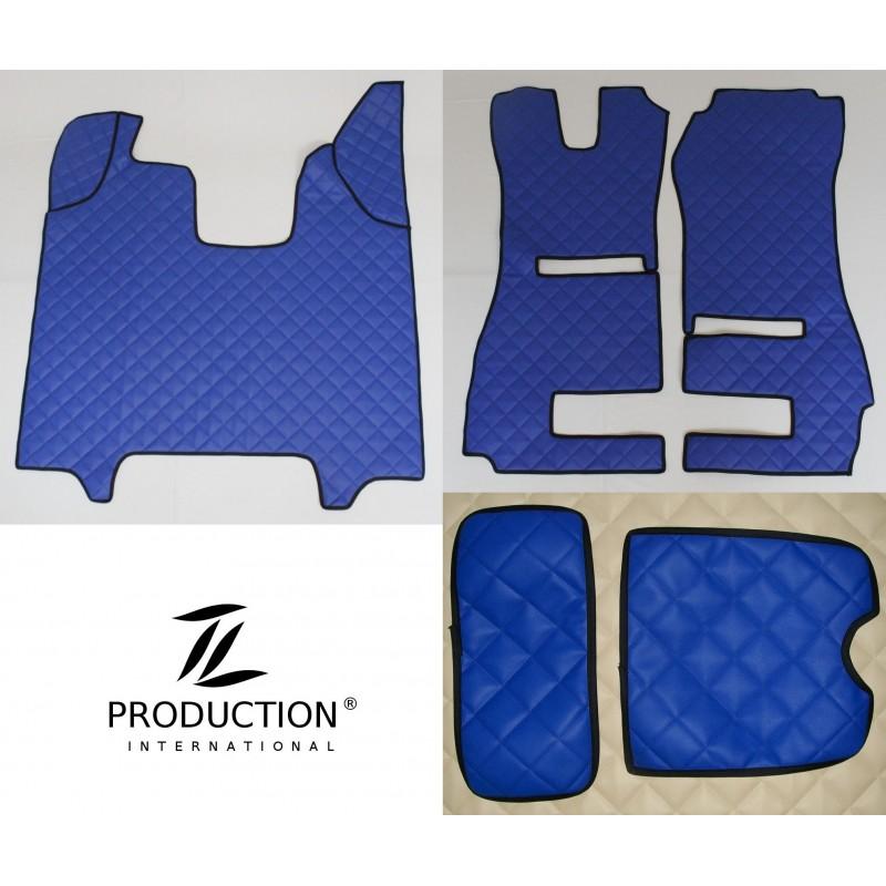 Scania R Streamline Kunstleder-Set klein für klappbaren Beifahrersitz und Automatik Kunstleder-Farbe blau