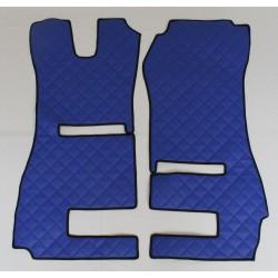 Scania R Fußmatten für klappbaren Beifahrersitz und Automatik Kunstleder-Farbe blau