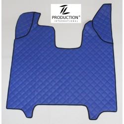 Tunnelandeckung für klappbaren Beifahrersitz und Automatik Kunstleder-Farbe blau