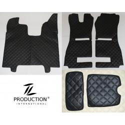 Kunstleder-Set klein für luftgefederten Beifahrersitz und Automatik Kunstleder schwarz