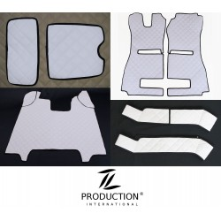 Kunstleder-Set für luftgefederten Beifahrersitz und Automatik Kunstleder-Farbe weiß