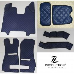 Kunstleder-Set für klappbaren Beifahrersitz und Automatik Kunstleder-Farbe dunkelblau