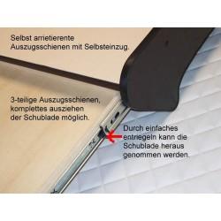 VOLVO FH4 durchgehender LKW-Tisch mit Auszug Details mit Beschreibung