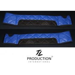 Sitzsockelverkleidung 2er-Set für luftgefederten Beifahrersitz Kunstleder blau atoll