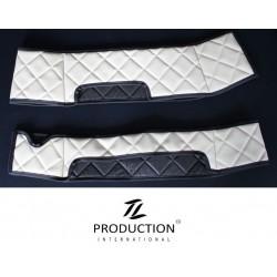Sitzsockelverkleidung für drehbaren Beifahrersitz Kunstleder weiß