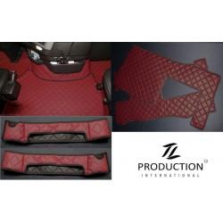 Kunstleder-Set für luftgefederten Beifahrersitz und Automatik bordeaux