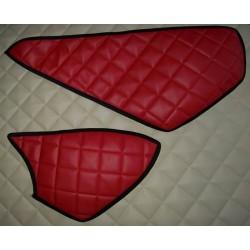 Abdeckung Ablagefächer 2er-Set für Kunstleder Rot