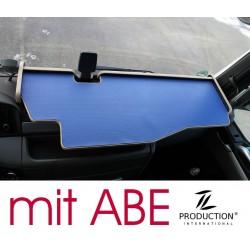 MAN TGX durchgehender LKW-Tisch mit Ausschnitt Kante beige Matte blau mit ABE
