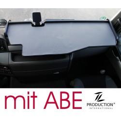 MAN TGX durchgehender LKW-Tisch mit Ausschnitt Kante schwarz Matte grau mit ABE