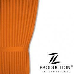 Scheibengardine inkl. Raffhalter in orange