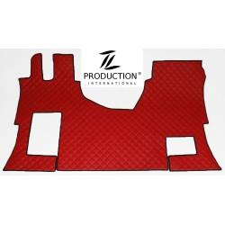 Tunnelmatte für klappbaren Beifahrersitz Leder rot