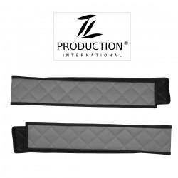 Sitzsockelverkleidung für luftgefederten Beifahrersitz in grau