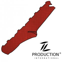 Armaturenabdeckung Kunstleder-Farbe rot