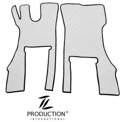 Fußmatten-Set für klappbaren Beifahrersitz Farbe weiß