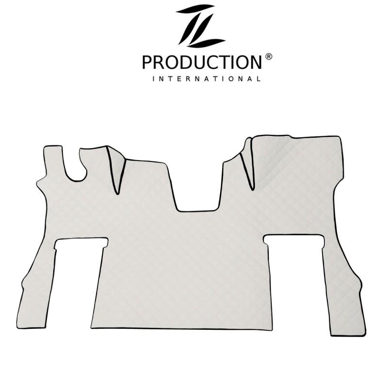 Tunnelmatte für drehbaren Beifahrersitz Kunstleder in weiß
