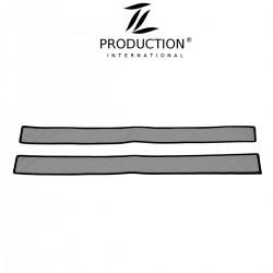 Sitzsockelverkleidung für luftgefederten Beifahrersitz Kunstleder grau